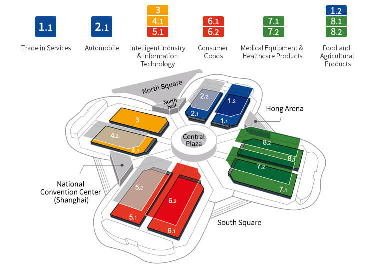 China International Import Expo Floor Plan