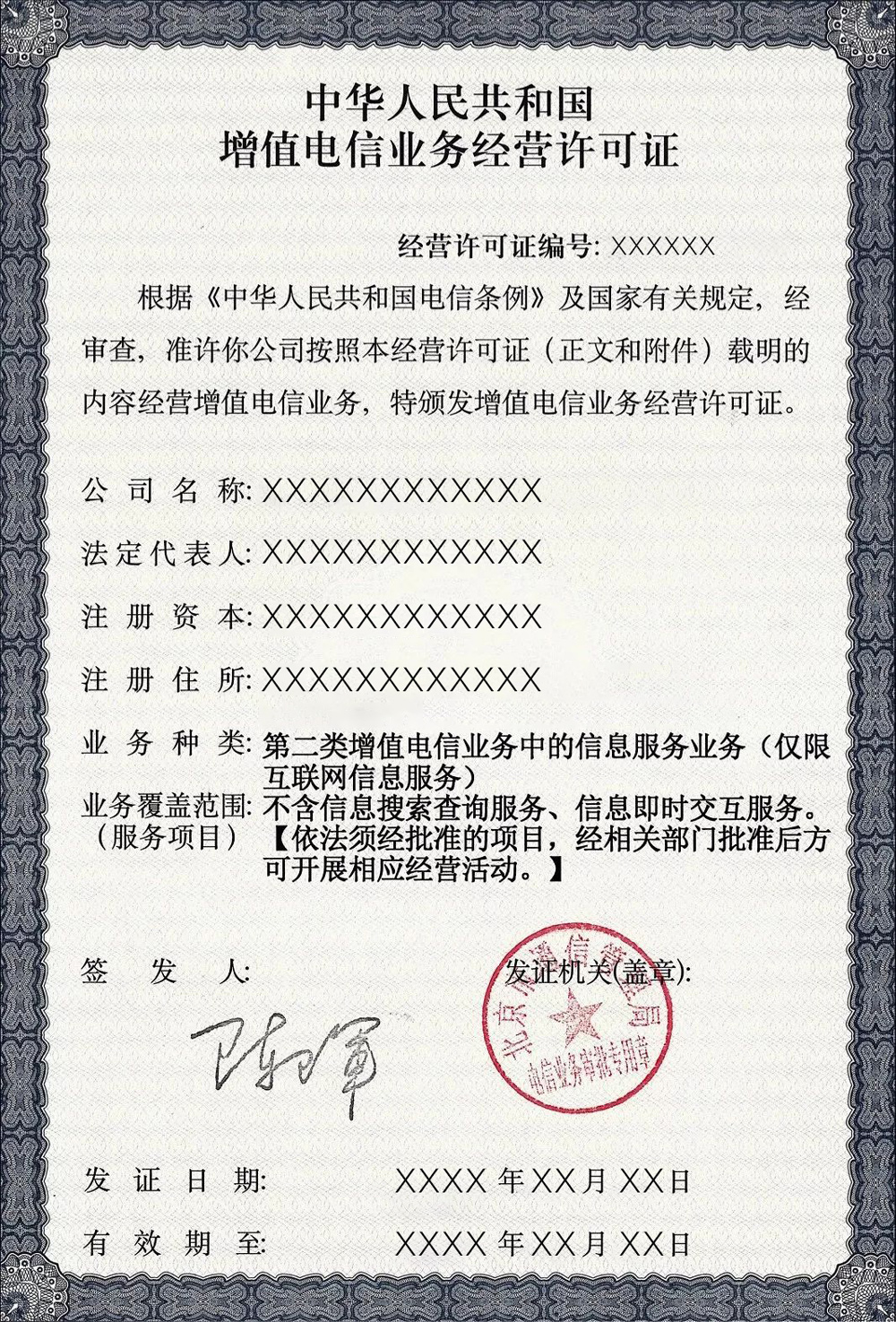 China Commercial ICP License