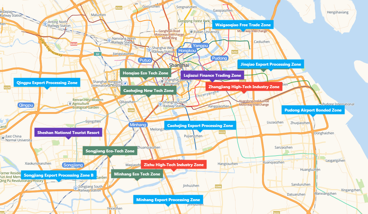 List of Shanghai National Development Zones